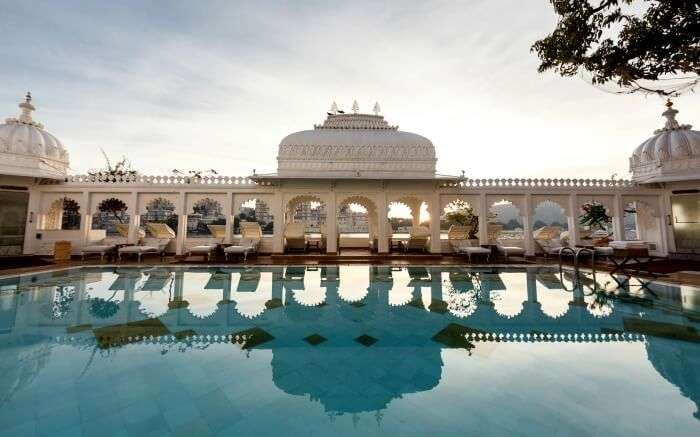 Pool in Lake Palace Udaipur