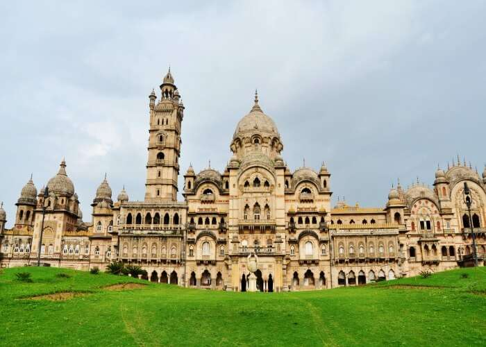 The magnificent Laxmi Vilas Palace awaits your arrival