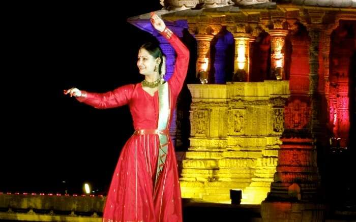 A classical dancer performing in Modhera Dance Festival of Gujarat