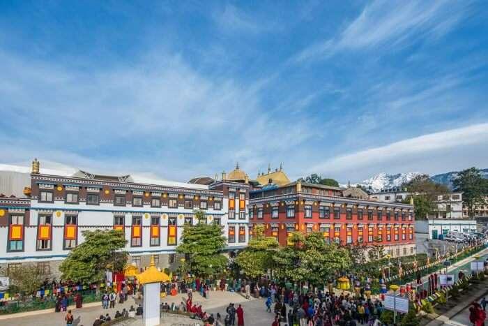 A panoramic view of Palpung Sherabling Monastic Seat