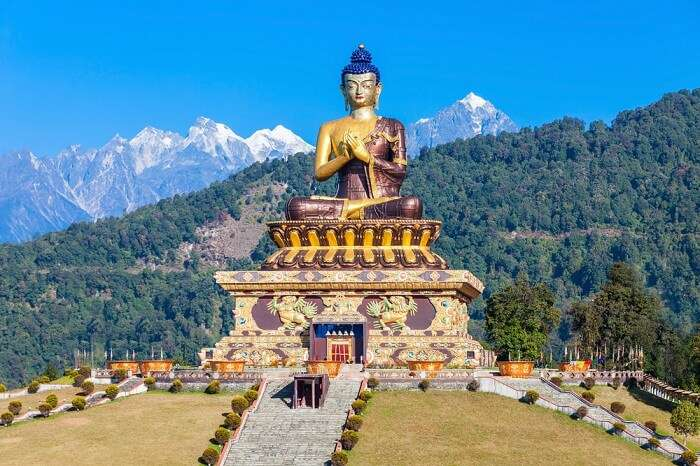 The Buddha Statue at the Buddha Park in Pelling district of Sikkim
