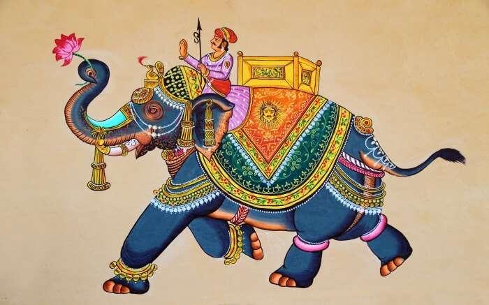 Traditional Rajasthani painting