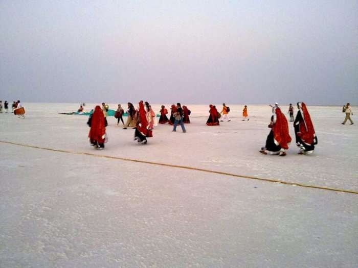 Dwell on the vast expanse of the pearl white Rann of Kutchh