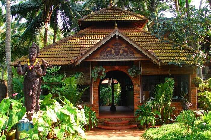 The entrance of the Shinshiva Ayurveda Resort in Kerala