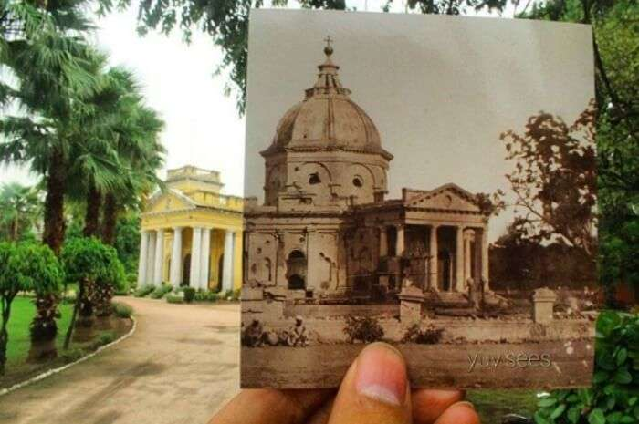 What St James Church looked back then vs what it looks now