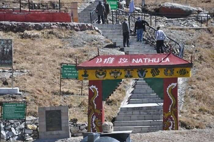 The staircase at the Indo-China border