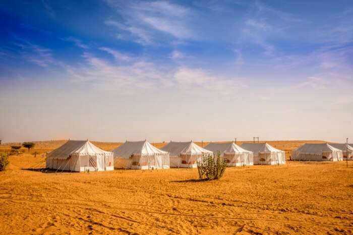 A picture-perfect view of Royal Desert Camps Jaisalmer