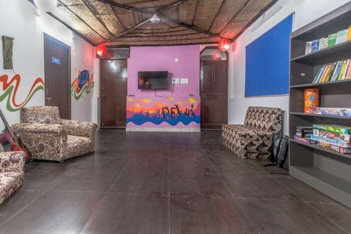 The vibrant interiors of Backpacker Panda in Pahar Ganj