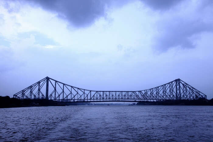 A view of Howrah Bridge in evening light