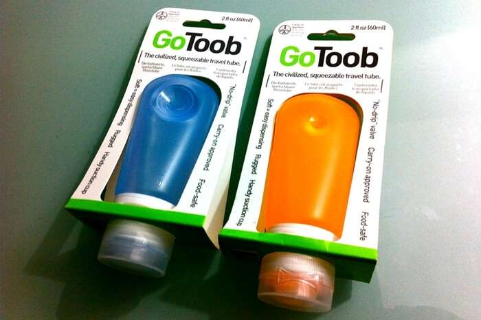 Squeezable travel tube by GoToob