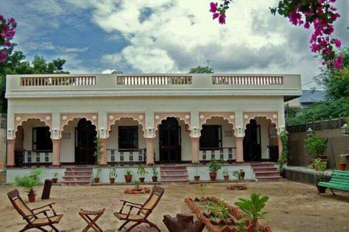 The elegant looking Badnor House that serves as a guest house in Ajmer