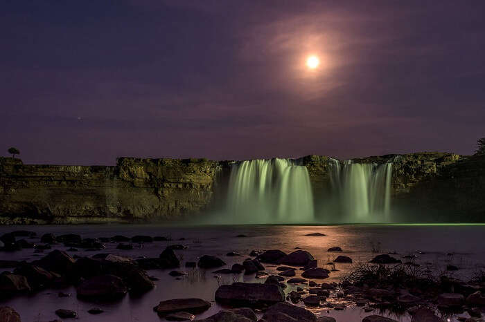 A late evening shot of the magnificent Chitrakoot waterfalls in Chhattisgarh