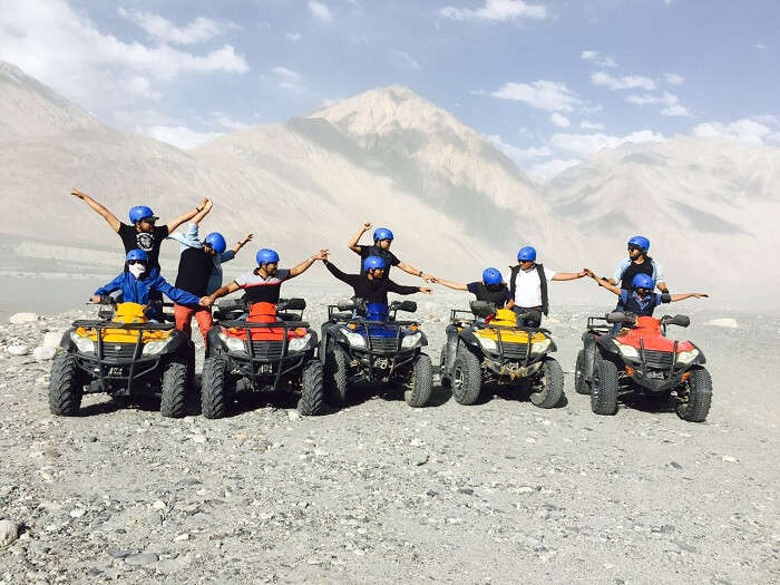 Sumit and his friends in Nubra Valley