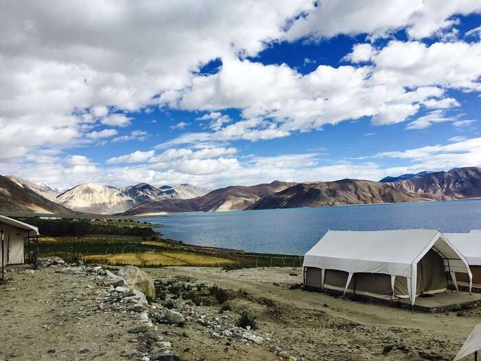 Beautiful Pangong lake in Ladakh