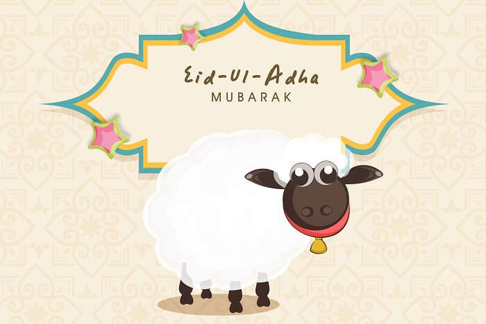 A greeting card for the festival of Eid-ul-Adha