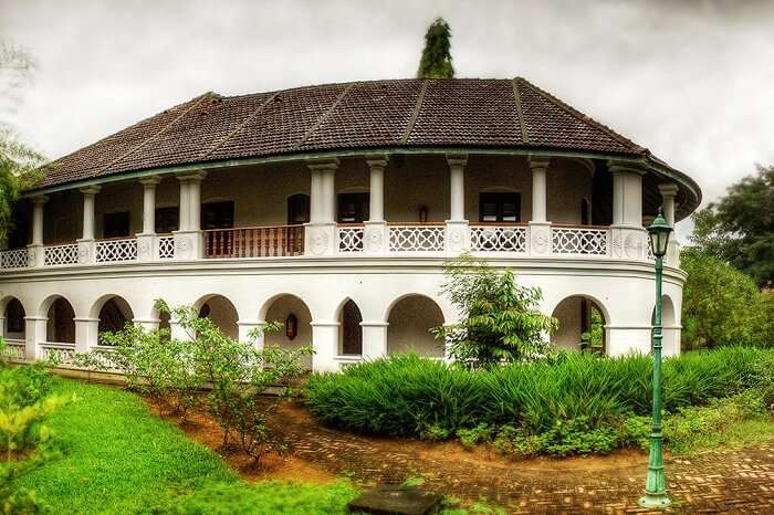 The exteriors of the Kalari Kovilakom Ayurvda resort in Kerala