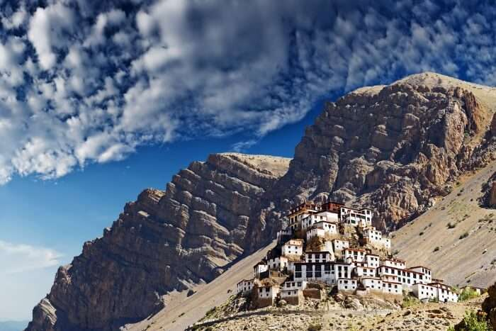 Key monastery in himalayas mountain