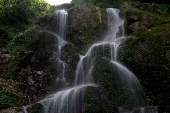 The beautiful Mandakini waterfalls that you can visit on your trip to Nathula Pass