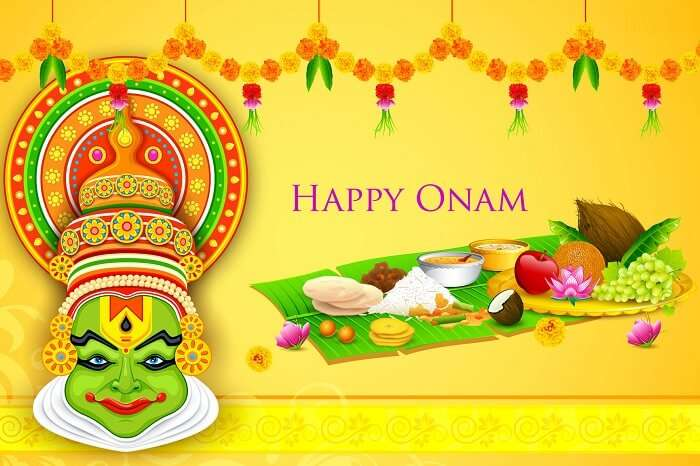 A poster greeting on the occasion of Onam