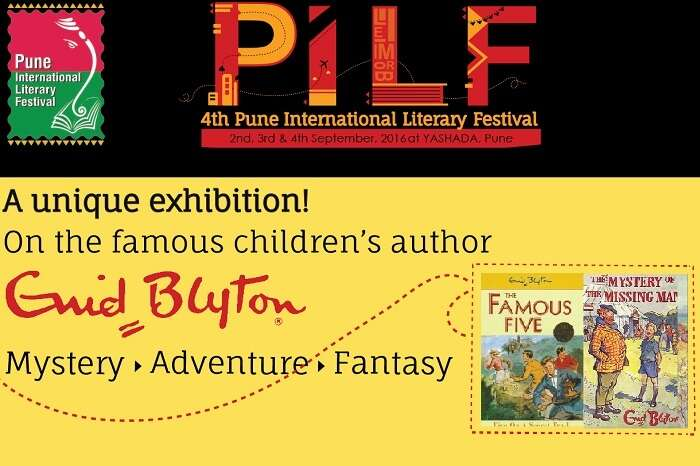 A promotional poster of the Pune International Literary Festival that is one of the most famous events in September