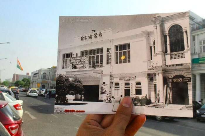 Photo of PVR Plaza then and now