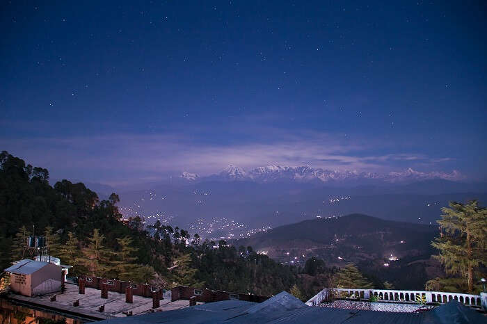 A beautiful night shot of the starry sky at Ranikhet