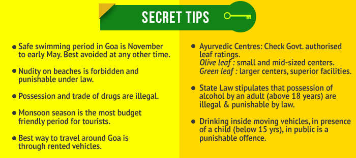 secret tips for holidaying in goa and kerala