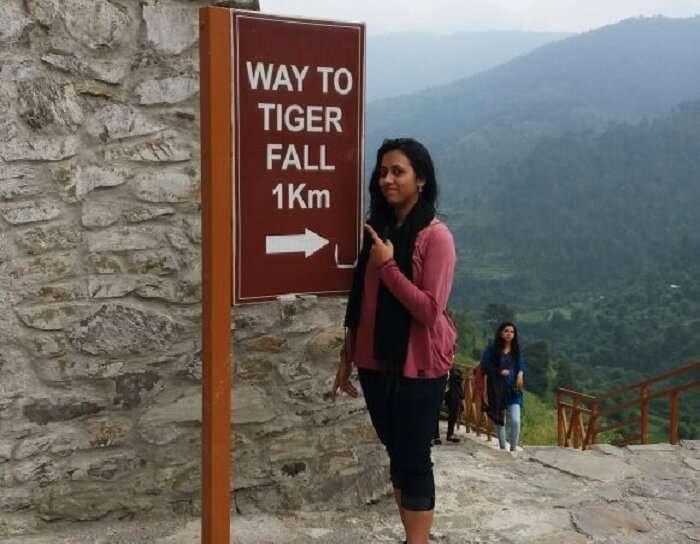 Anamika near Tiger Fall