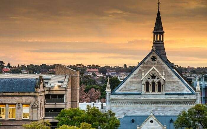 Adelaide during the sunset