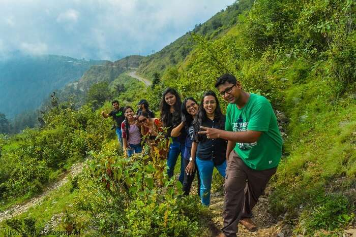 Anamika and her friends trekking in Chakrata