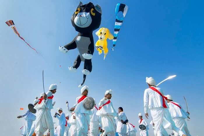 The various celebrations included in the International Kite Festival in Gujarat