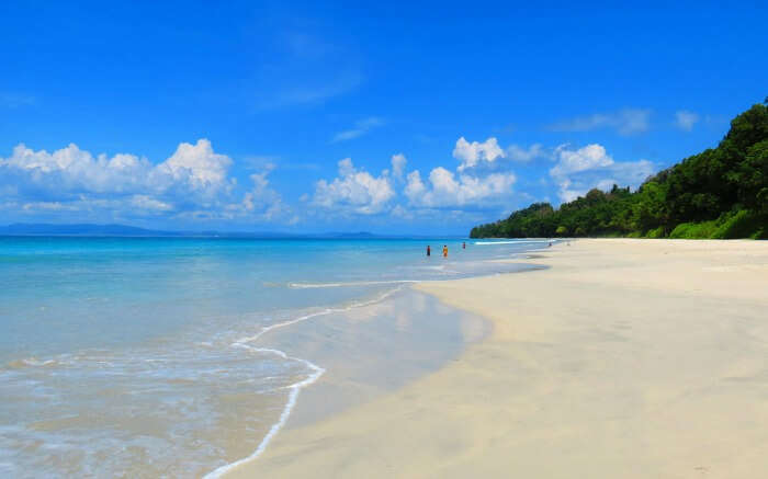 People enjoying at Radhanagar Beach in Havelock Island