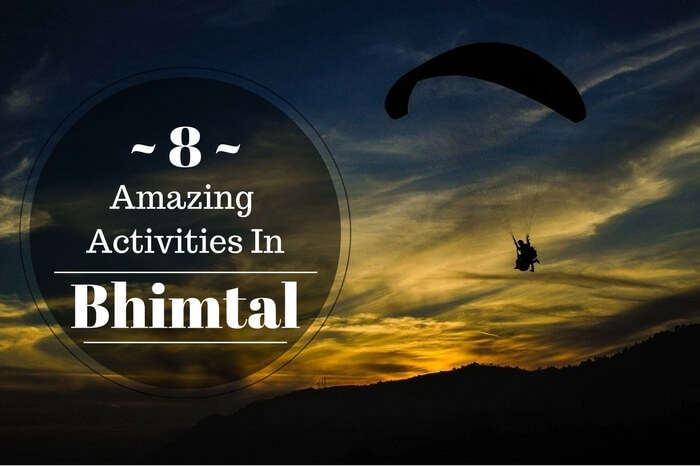 Paragliding is one of the adventurous things to do in Bhimtal