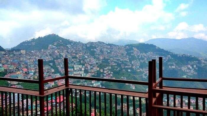 Majestic view of Shimla