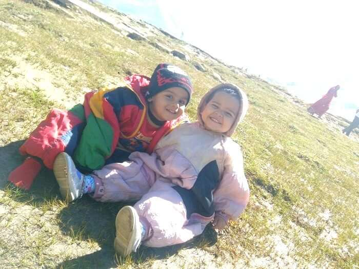 Playful time with children in Manali