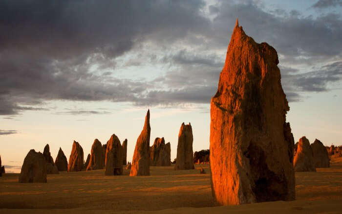 Towering rocks in Nambung National Park