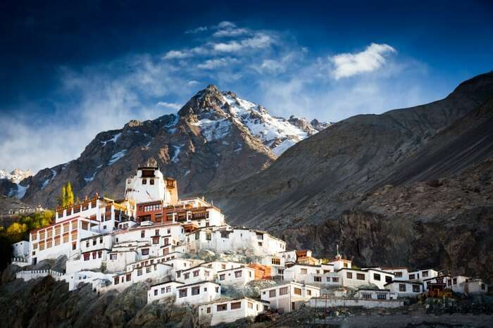 Diskit Monastery in Nubra valley in Ladakh
