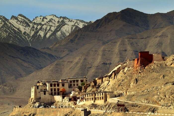 The picturesque Spituk Monastery in Ladakh