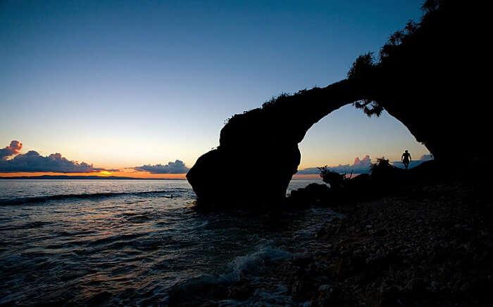Sunset in a beach in Neil Island
