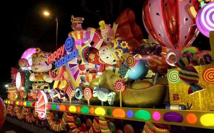 Parade during Chinese new year in Hong Kong
