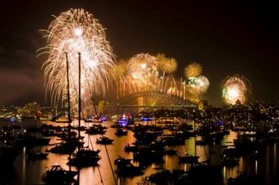 The grand cracker show watched by millions of people in Sydney