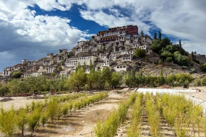 A view of Thiksey monastery in Ladakh