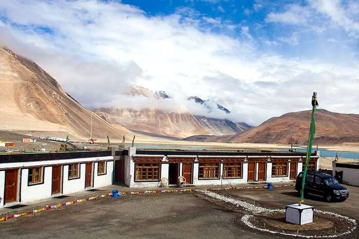 The picturesque Pangong Inn in Leh