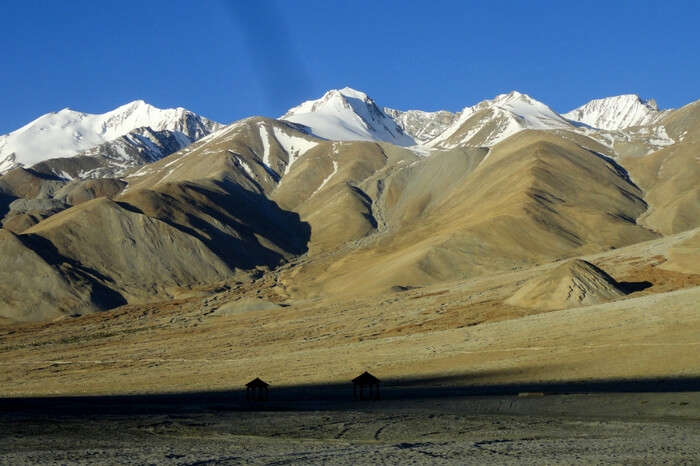 Chang-Chenmo mountain range from Pangong lake