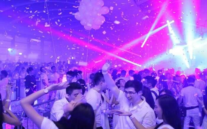 People partying in Hong Kong