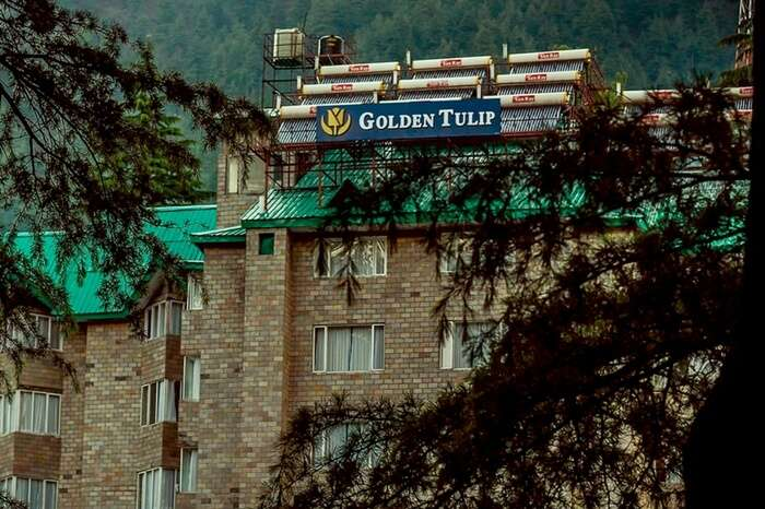 A quaint view of Golden Tulip in Manali