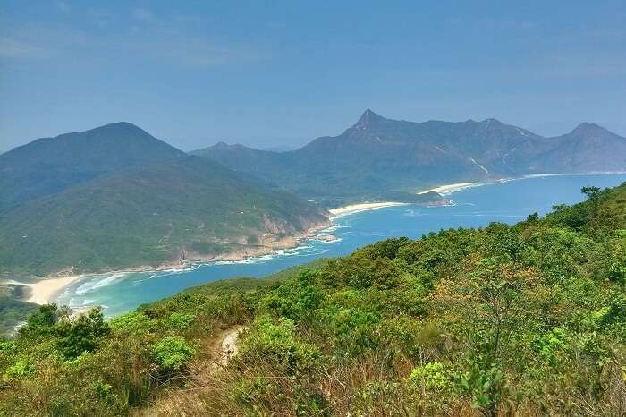 The Tai Long Wan trail that offers views of the natural beauty of Hong Kong
