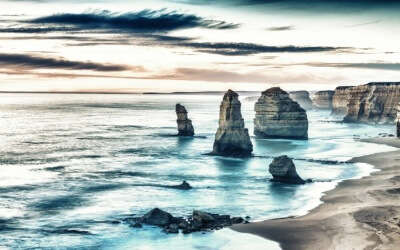 Aeriel view of Twelve Apostles