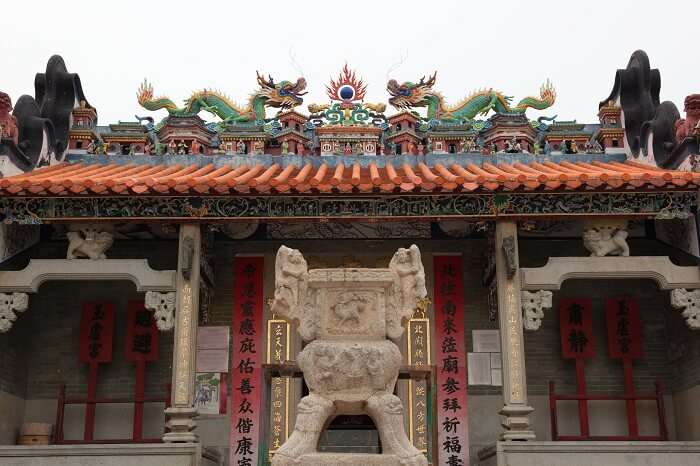 The main entrance to Pak Tai Temple in Hong Kong