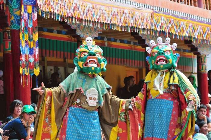People of Leh dance together to celebrate Sindhu Darshan festival